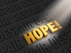 finding hope in despair - stock illustration