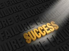 Stock Illustration of finding success in failure