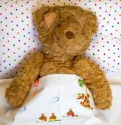 ill teddy bear - stock photo