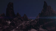 Planet Stars Mountian Time-Lapse Stock Footage