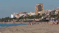 Estepona beach, playa Stock Footage