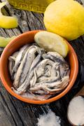 anchovies - stock photo