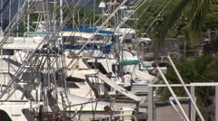 Fishing Boats docked in the Harbor Stock Footage