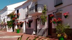 Typical white village, Spain Stock Footage