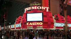 Sam Boyd's Fremont Casino and Hotel, Las Vegas Stock Footage