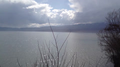 Ohrid Lake Horizont Stock Footage