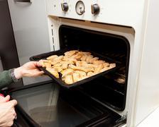 italian cookies cantucci - stock photo
