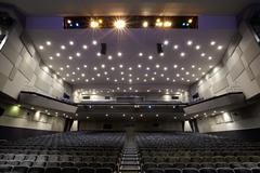 Interior of cinema auditorium. Stock Photos