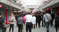 People passing throuth the Nakamise-dori to Senso-ji temple, Japan HD Footage