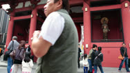 Stock Video Footage of The Kaminarimon gate in Asakusa, Tokyo, Japan