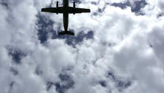 Airplane Overhead Stock Footage