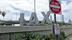 LAX Sign Stock Footage