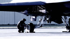 Aircrew Cleaning Stock Footage