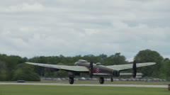 Avro Lancaster Take Off 24 1 - stock footage