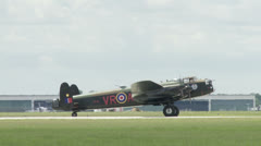 Avro Lancaster Taxi 24 1M - stock footage