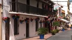 Bars & restaurants. pueblo blanco Spain Stock Footage