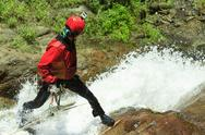 Stock Photo of canyoning instructor