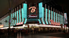 Front of Binion's Gambling Hall, Las Vegas Stock Footage