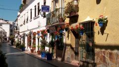 Colourful street in Andalucian.  Spain, Stock Footage