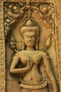 Wall bar-relief, chau say tevoda temple Stock Photos
