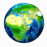 Earth Asia View - stock illustration