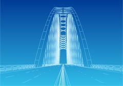 Silhouette of golden gate bridge Stock Illustration