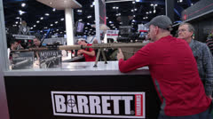 Barrett Rifle at National Rifle Association Convention (HD)k - stock footage