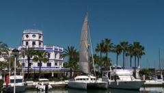 Estepona  marina, Costa del Sol - stock footage