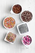 colorful candy sprinkles - stock photo