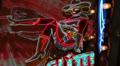 Neon 'Sassy Sal' Cowgirl Sign HD Footage
