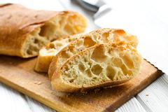 Sliced ciabatta bread Stock Photos