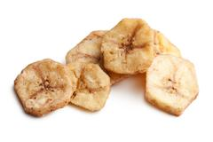 Stock Photo of dried banana chips