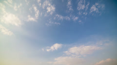 Cloud and blue sky timelapse Stock Footage