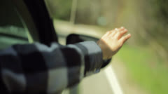 Forest Hand Out Window HD Stock Footage