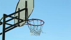 Basketball backboard Stock Footage