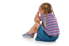 crying little girl - stock photo