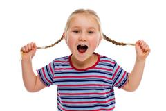 Stock Photo of little girl with pigtails