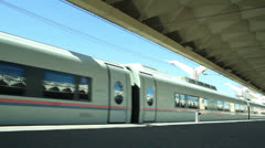 High-speed commuter train Stock Footage