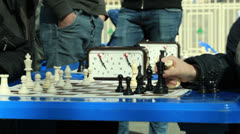 Chess tournament outdoors. Stock Footage