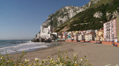 Catalan Bay, east side Gibraltar Stock Footage