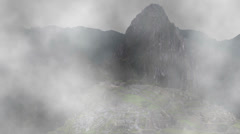 Machu Picchu Appearing from Fog - stock footage