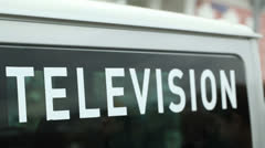 Television car. Stock Footage