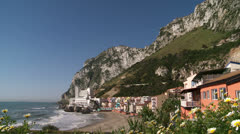 Catalan Bay, Italianate fishing village,  Stock Footage