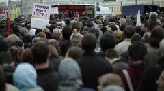 Protest manifestation in Moscow Stock Footage
