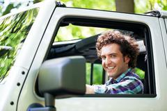 Driving in nature - stock photo