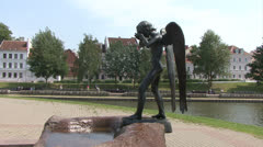 "Statue ""Crying angel"" Stock Footage"
