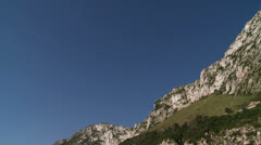 Pan shot of the Rock at  Catalan Bay Stock Footage