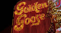 Flashing 'Golden Goose' Strip Club Sign HD Footage