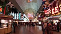Fremont Street Experience, Las Vegas Stock Footage