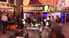 Street artist at Fremont Street Experience, Las Vegas Stock Footage